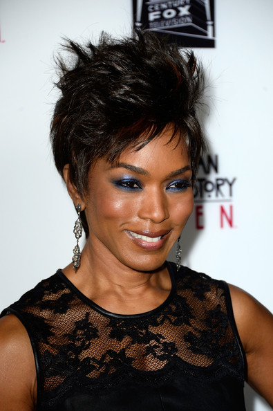 "Actress Angela Bassett arrives at the premiere of FX's ""American Horror Story: Coven"" at Pacific Design Center on October 5, 2013 in West Hollywood"