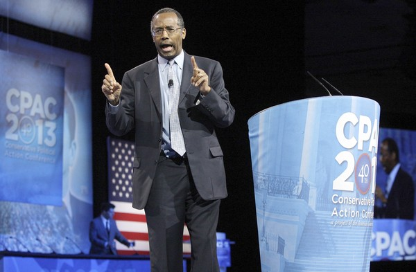 Dr. Benjamin Carson, director of Pediatric Neurosurgery at Johns Hopkins School of Medicine, delivers remarks to the Conservative Political Action Conference (CPAC) in National Harbor, Maryland, March 16, 2013.