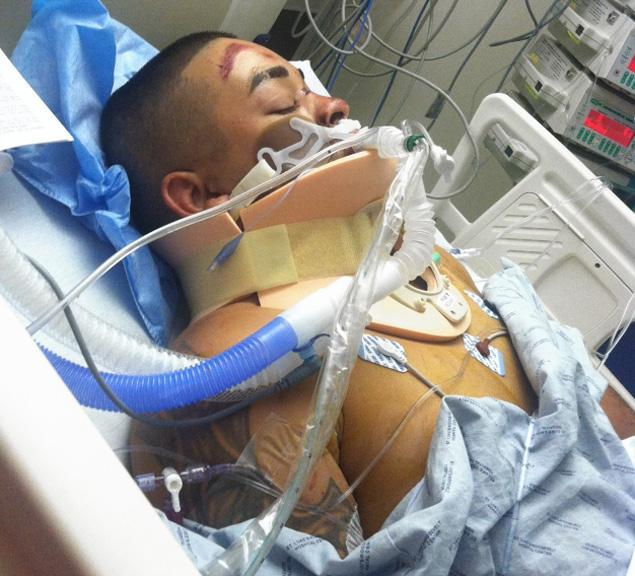 Edwin Mieses, a biker who was run over by an SUV driven by Alexian Lien during an altercation with several motorcyclists, is recovering at St Luke's-Roosevelt Hospital