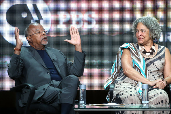 Executive producer/writer Henry Louis Gates, Jr. and journalist Charlayne Hunter-Gault speak onstage during 'The African Americans: Many Rivers to Cross with Henry Louis Gates, Jr.' panel discussion at the PBS portion of the 2013 Summer Television Critics Association tour at the Beverly Hilton Hotel on August 7, 2013 in Beverly Hills