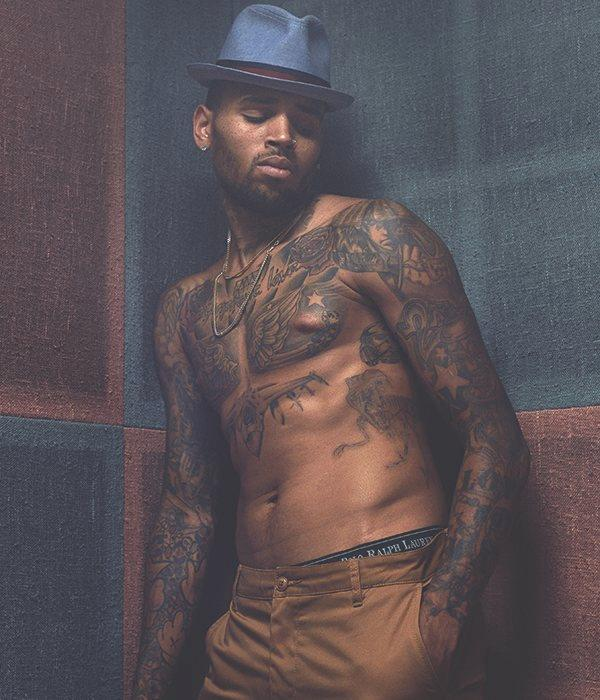 chris brown (tats - hat)