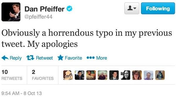 dan pfeiffer apology tweet