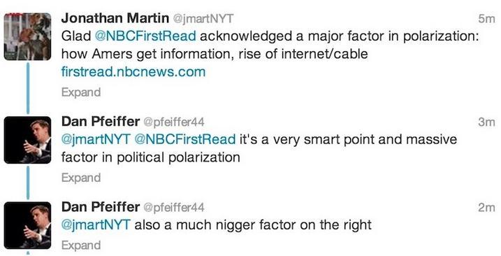 dan pfeiffer n-word tweet