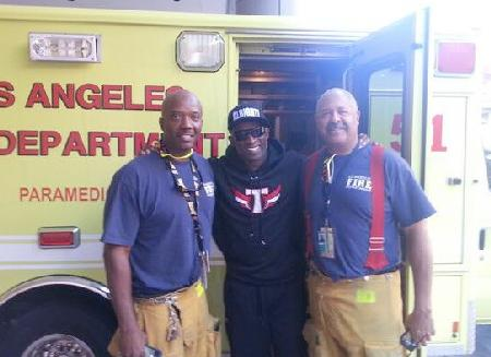 deion sanders & paramedics-firemen