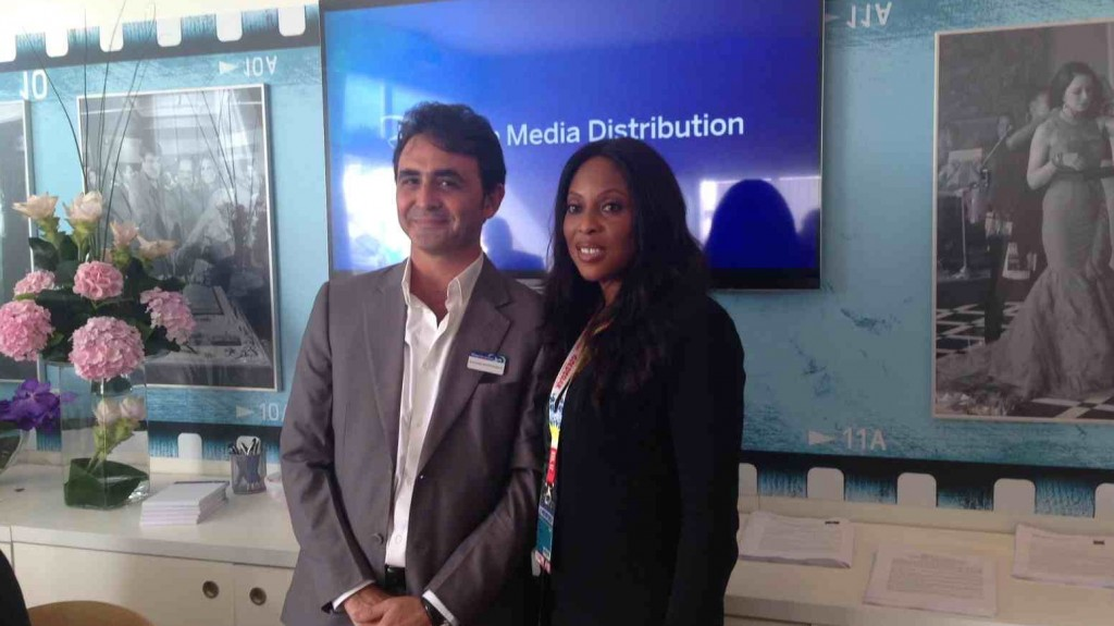 Mo Abudu, the CEO and executive chairman of EbonyLife TV (pictured below with Disney's Giovanni Mastrelangelo)