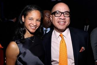 President of The Ford Foundation Darren Walker is pictured with Harlem School of the Arts President & CEO Yvette L. Campbell