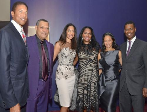 Harlem School of the Arts President & CEO Yvette Campbell (far right) is pictured with honorees Christopher J. Williams, Laurence Fishburne, Gina Torres and Janice Savin Williams and Yvette's husband Michael L. Campbell