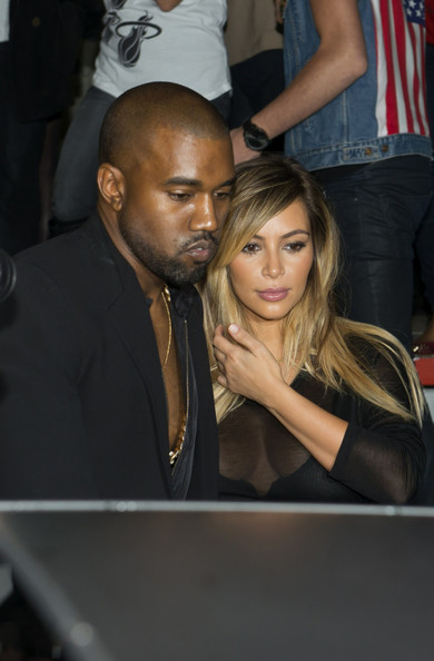 Kanye West and Kim Kadarshian visit the Givenchy show followed by dinner at restaurant Ferdi in France. (September 29, 2013)
