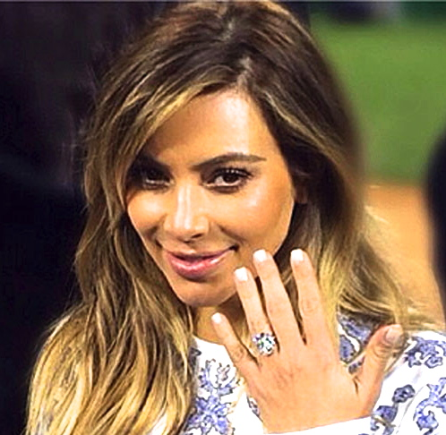 kim k engagement ring 2