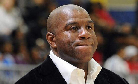 magic johnson (not happy)