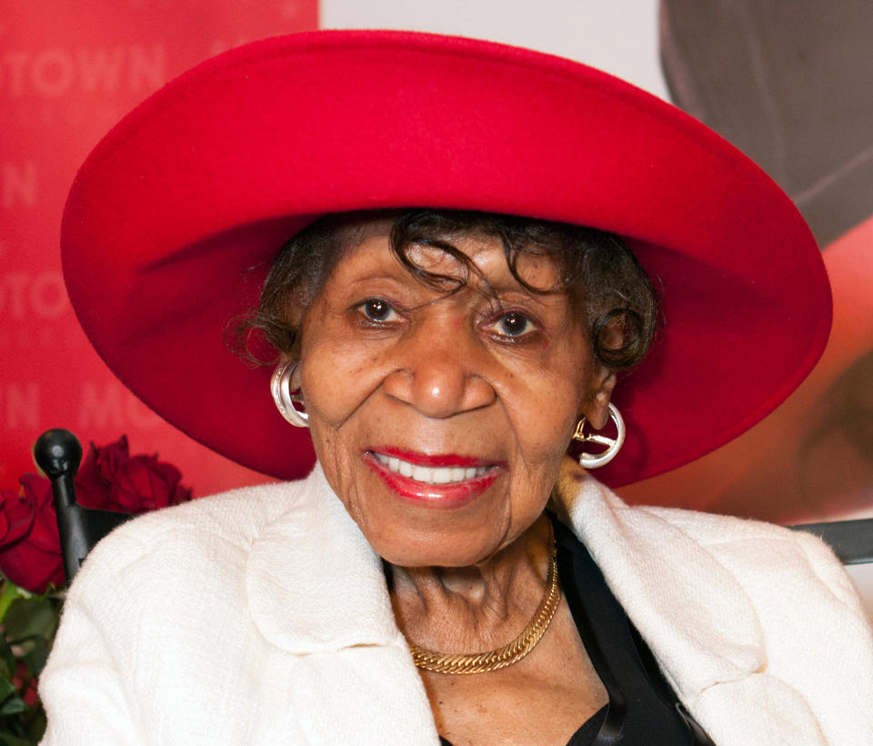 Maxine Powell smiles during an event held in her honor at the Motown Museum in Detroit (Aug. 26, 2013)