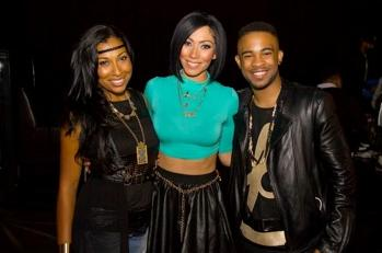 melanie fiona with bridget kelly and elijah blake