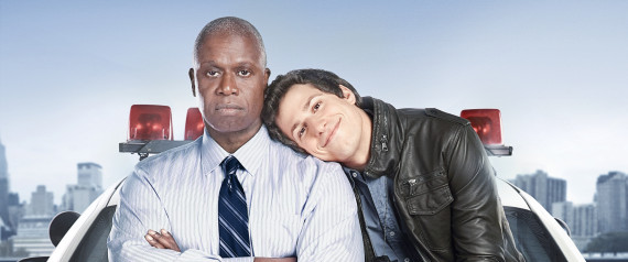 BROOKLYN NINE-NINE: Emmy Award winners Andre Braugher (L) and Andy Samberg (R)