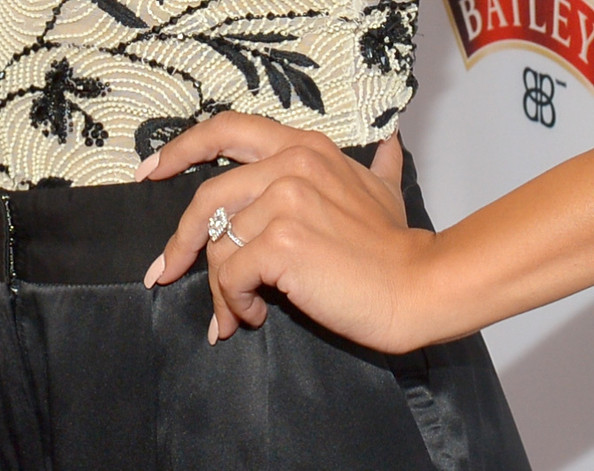 """Actress Naya Rivera (ring detail) attends Latina Magazine's """"Hollywood Hot List"""" party at The Redbury Hotel on October 3, 2013 in Hollywood"""