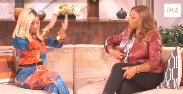 nicki minaj queen latifah show