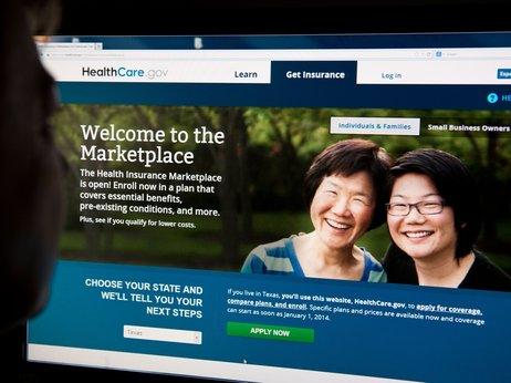 obamacare website screenshot