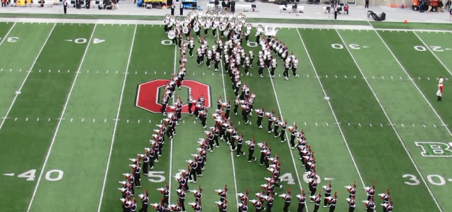 Ohio State University Marching Band in Michael Jackson formation