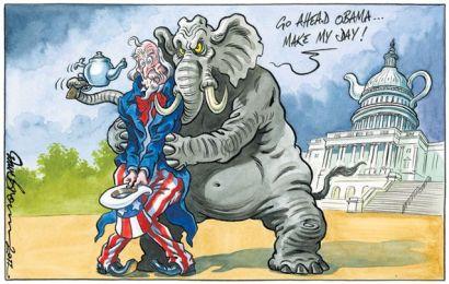 radical republican (gop shakedown of obama)