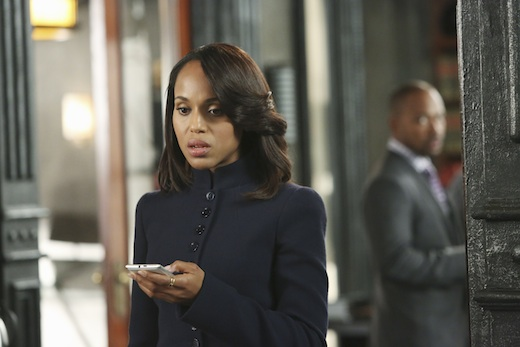 "SCANDAL - ""Guess Who's Coming to Dinner"" - Through flashbacks we learn more about Olivia's estranged relationship with her father. Meanwhile, both the White House and  Pope & Associates are still in the middle of cleaning up the very big and very public mess they created, on ""Scandal,"" THURSDAY OCTOBER 10 (10:00-11:00 p.m., ET) on the ABC Television Network."