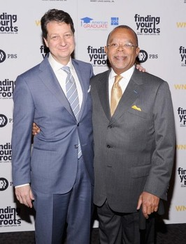 Neal Shapiro,CEO and president of PBS station Thirteen/WNET and  Henry Louis Gates Jr.