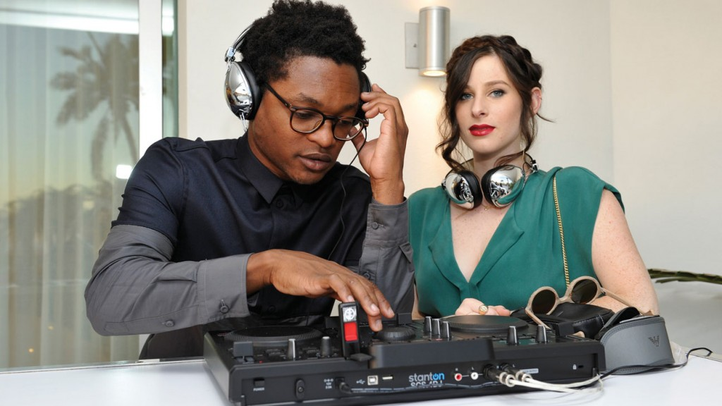 DJs Theo Spielberg and Sasha Speilberg of Wardell perform during Teen Vogue Young Hollywood Party on September 27, 2013 in West Hollywood