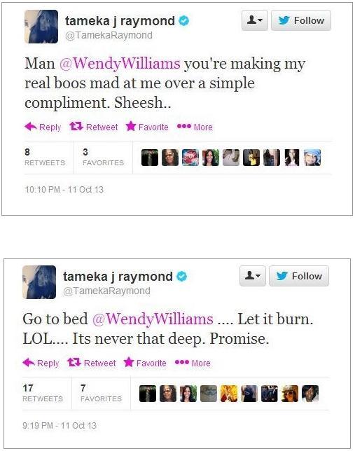 tameka tweets to wendy