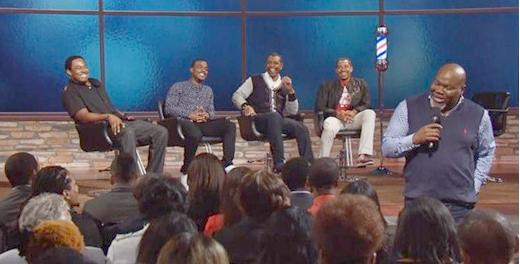 "(Lamman Rucker, Luke James, Keith Sweat and Laz Alonzo talk love and the ladies on ""T.D. Jakes Presents: Mind, Body & Soul"")"