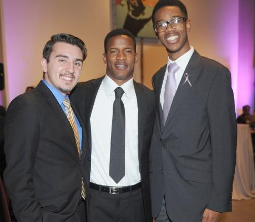 wiley college debaters and actor nate parker (center)