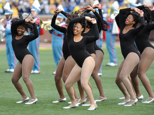Dancers for the The Delaware State marching band