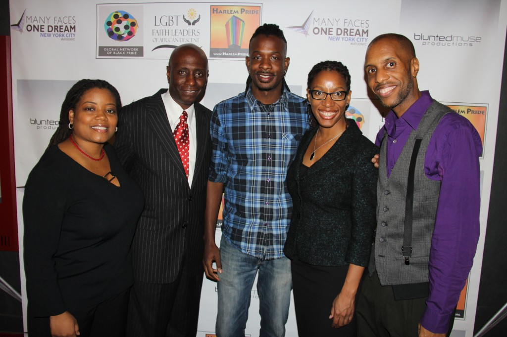 L to R: CARMEN NEELY, President of Harlem Pride,EUGENE CORNELIUS JR., Deputy  Associate Administrator for Field Operation and for the U.S. Small Business Administration,  SEAN ANTHONY,NO SHADE Writer, Director, Producer & Entrepreneur , MONIQUE FORTENBERRY, Director of the U.S. Small Business Administration's New York District Office, and RICHARD E. PELZER II, President of Global Network of Black Pride.