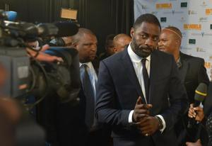 Actor Idris Elba takes a stroll looking as cool as ever.