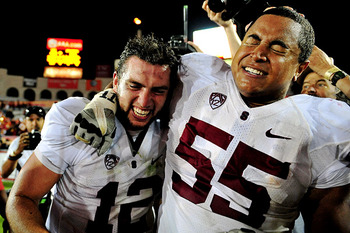 Andrew Luck and Jonathan Martin at Stanford