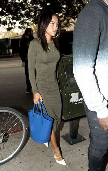 Karrueche Tran arrives at a Chris Brown's court date in Los Angeles on November 20, 2013.