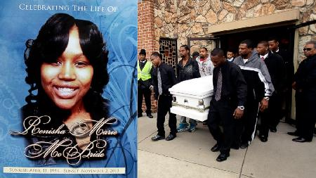 Renisha McBride was laid to rest. Her killer still roams free while police investigate.