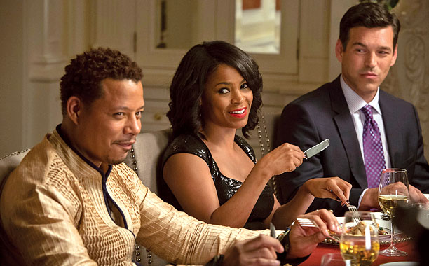 "(L-R) Terrence Howard, Nia Long and Eddie Cibrian in ""The Best Man Holiday"""