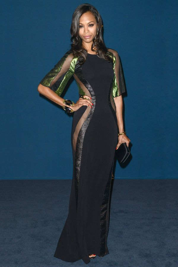 Zoe Saldana - gucci dress