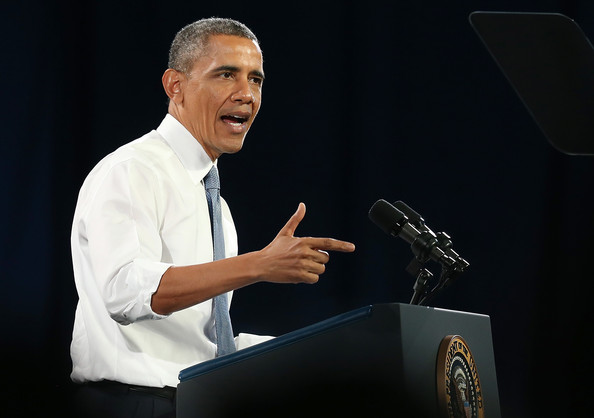 President Barack Obama speaks at the Betty Ann Ong Chinese Recreation Center on November 25, 2013 in San Francisco, California. President Obama delivered a speech on immigration reform and will attend fundraisers in the San Francisco Bay Area
