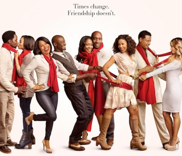 best man holiday - cast - red scarves