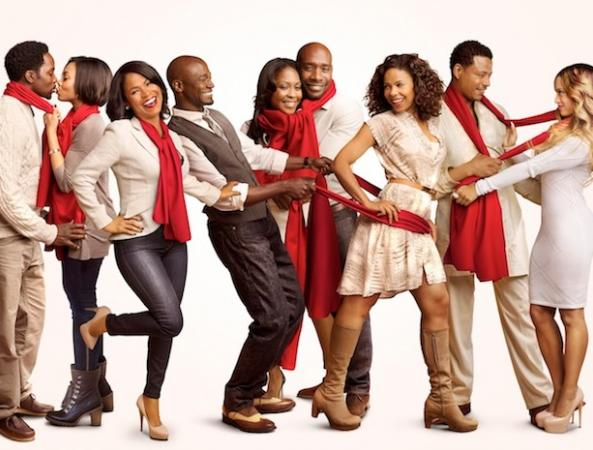 best man holiday - cast - red scarves1