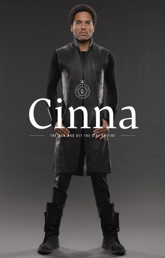 """Lenny Kravitz as Cinna in art for """"THe Hunger Games: Catching Fire"""""""