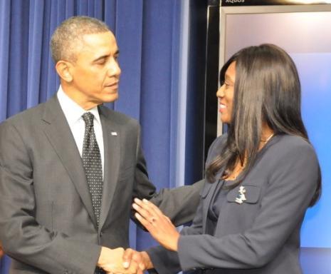 daphne bradford & president obama1