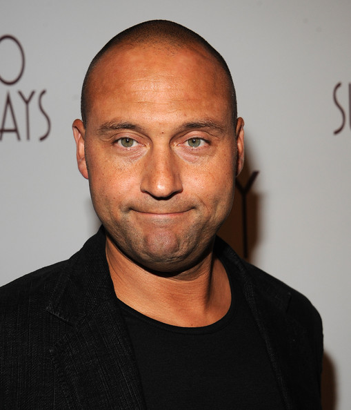 """Derek Jeter attends the Billy Crystal's """"700 Sundays"""" Broadway Opening Night - Arrivals And Curtain Call caption at Imperial Theatre on November 13, 2013 in New York City"""