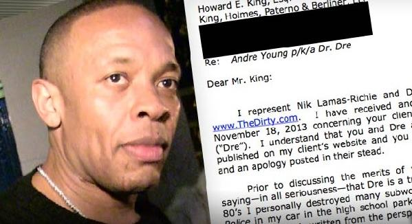 dr dre & letter from thedirty lawyer