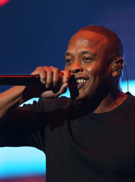 Rapper Dr. Dre performs during the Snoop Dogg, Kendrick Lamar, J.Cole, Miguel and SchoolBoyQ concert during the 2013 BET Experience at Staples Center on June 29, 2013 in Los Angeles