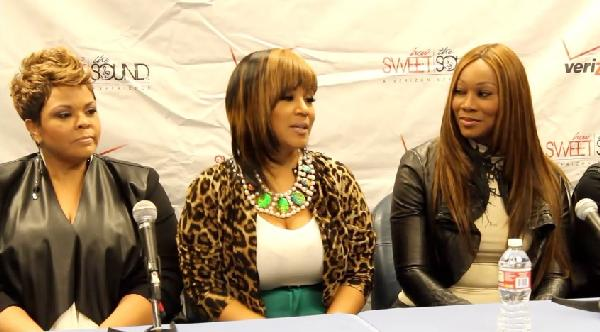 Tamela Mann, Erica Atkins-Campbell and Yolanda Adams