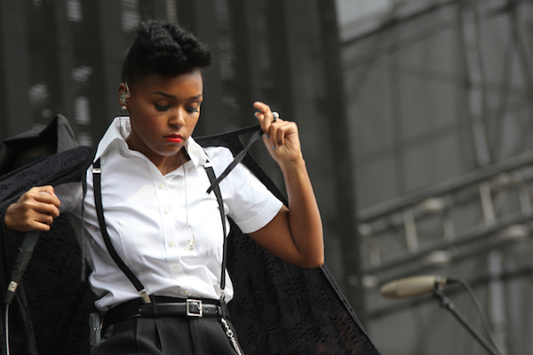 Janelle Monae performs at the Made in America Festival (2012)