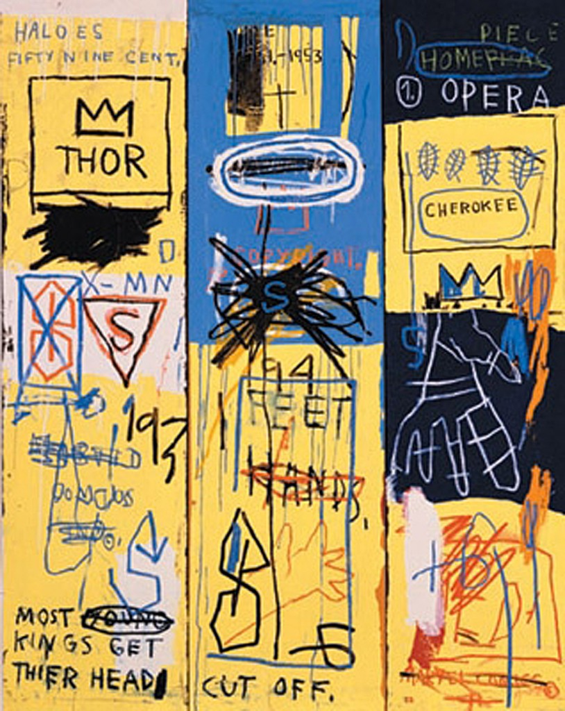 "Jean-Michel Basquiat painting  ""Charles the First"""