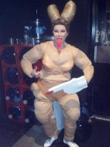Miley Cyrus was the celebrity of the holiday. But Joan Rivers took it a step further and became the fat version of the singer.