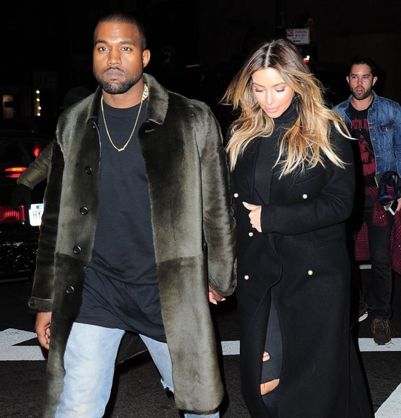 Reality star Kim Kardashian does some shopping in New York City, New York with her fiance rapper Kanye West on November 25, 2013