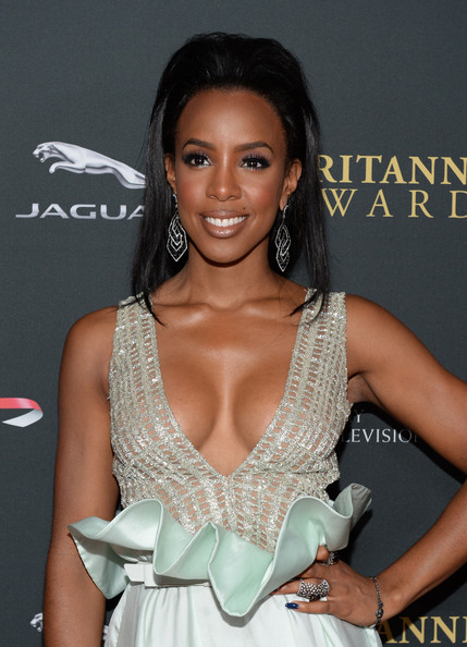 Singer Kelly Rowland with Stylebop.com attends the 2013 BAFTA LA Jaguar Britannia Awards presented by BBC America at The Beverly Hilton Hotel on November 9, 2013 in Beverly Hills